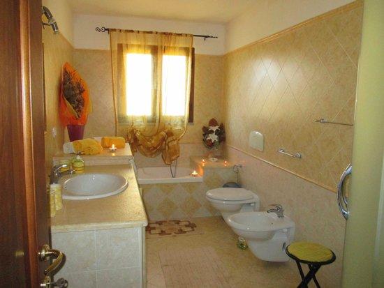 Bagno con vasca e doccia u stanza unica